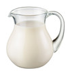 Leinwandbild Motiv Glass jug of fresh milk isolated on white. With clipping path