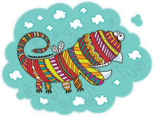 Varicolored decorative dragon