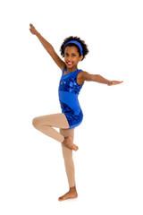 Happy Acro Dancer Child with legs in Retire