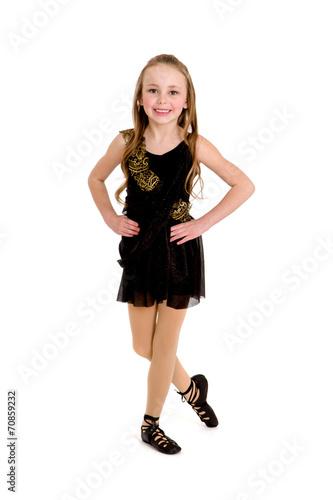 Aluminium Dance School Celtic Dancing Girl in Ghillies