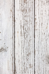 Old white wooden planks surface background