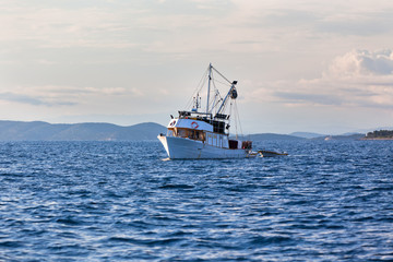 Old fishing boat in Adriatic sea