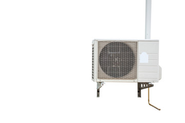 Unit of Air Conditioner on isolated white with clipping path.