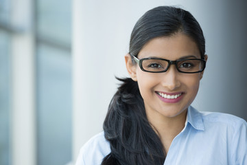 nerdy intelligent woman