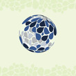 Globe Made of Petals - Vector Design Template