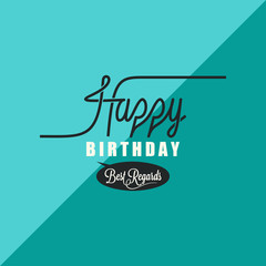 birthday vintage background