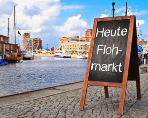 Tafel - Heute Flohmarkt