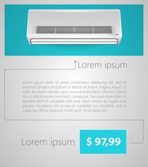 Flat vector minimalist template business design. Conditioner.