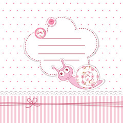 Baby shower with snail