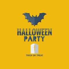 halloween party flat design background