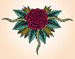 Obrazy na płótnie, fototapety, zdjęcia, fotoobrazy drukowane : Rose Tattoo Style