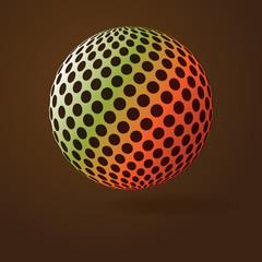 Colorful Digital Globe Design Vector