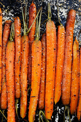 Roasted carrots with herbs