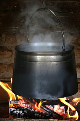 Stew, Cauldron on the fire