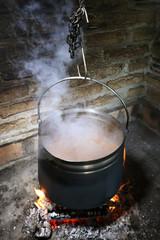 Stew, Cauldron on the fire