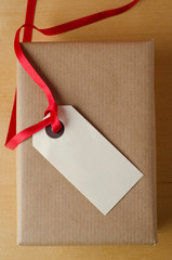 Label and Brown Paper Package
