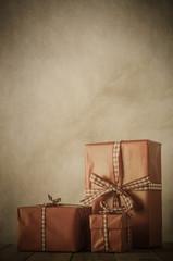 Vintage Christmas Gifts Arrangement