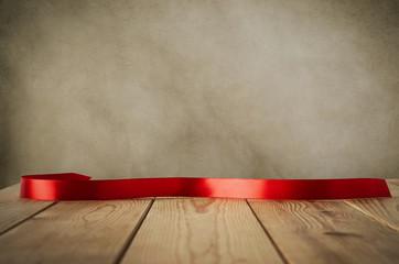 Retro Ribbon on Planks