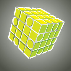 3D Three Sided Cube Template