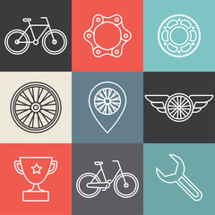 Vector hipster bicycle logo templates