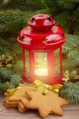 christmas lantern close up