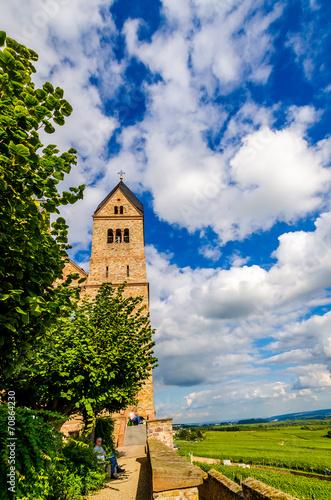 canvas print picture Kloster in Rüdesheim am Rhein