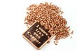 Kupferbarren und -granulat isoliert auf weißem Hintergrund - 70864826