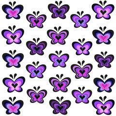 Modern lavender butterflies vector background