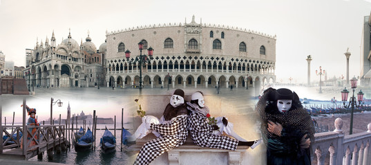Karneval in Venedig Collage