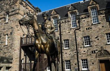Statua a Cavallo Castello Edimburgo