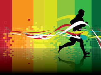 Sport vector illustration. Runner