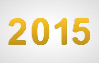 Vector 3D happy new year 2015 text design.