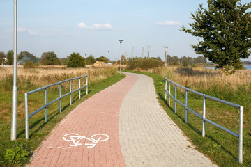 Pathway for bike rides and walks
