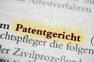 Patentgericht - beige markiert