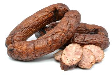 slightly dried sausage