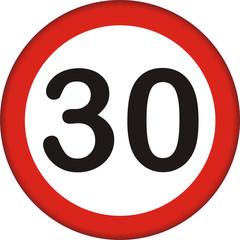 Verkehrszeichen, 30