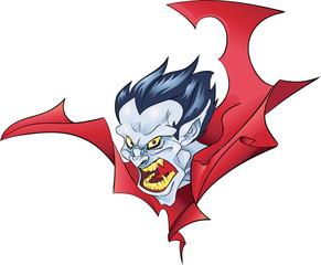 vampire bust halloween color