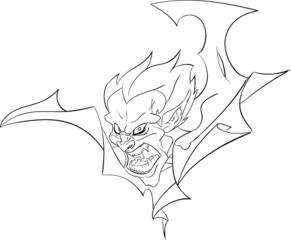 vampire bust halloween line art