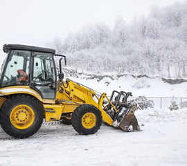 Earth mover on the snow