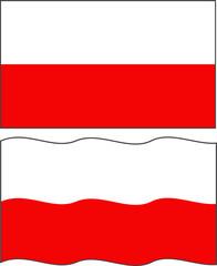 Flat and waving Polish Flag. Vector