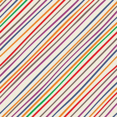 Abstract striped seamless pattern. Vector