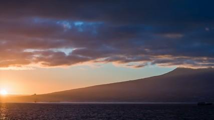 Sunrise beside Pico volcano in azores | Magic Lantern RAW video