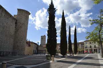 plaza de la villa and castle, Torija, Spain