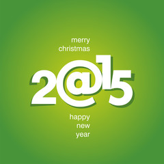 Happy New Year 2015 green color vector