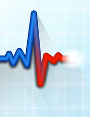 Heart Rate Pulse Tracing Medical Symbol Background