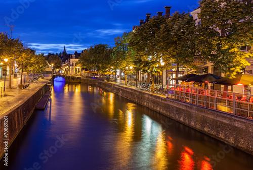 Tuinposter Noord Europa Canals of Leeuwarden Netherlands
