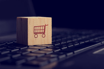 Online shopping and e-commerce background