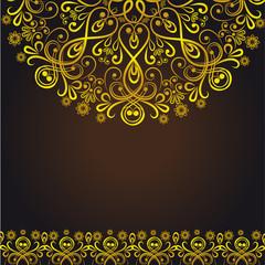 Ornamental gold background