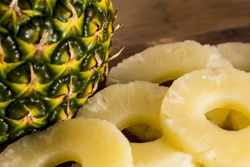 Pineapple or ananas close-up