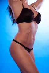 Sexy Body Curve Wearing Black Underwear